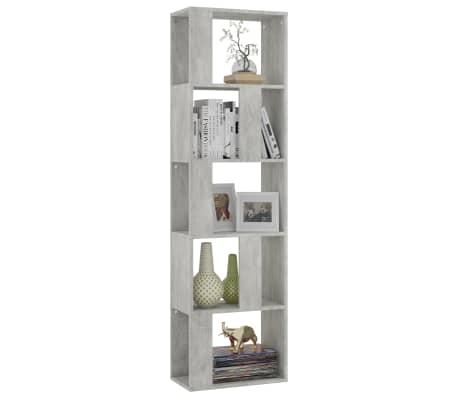 "vidaXL Book Cabinet/Room Divider Concrete Gray 17.7""x9.4""x62.6"" Chipboard[3/7]"