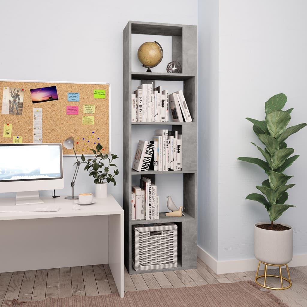 vidaXL Bibliotecă/Separator cameră, gri beton, 45x24x159 cm, PAL imagine vidaxl.ro