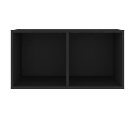 vidaXL Dėžė vinilinėms plokštelėms, juodos spalvos, 71x34x36cm, MDP[3/6]