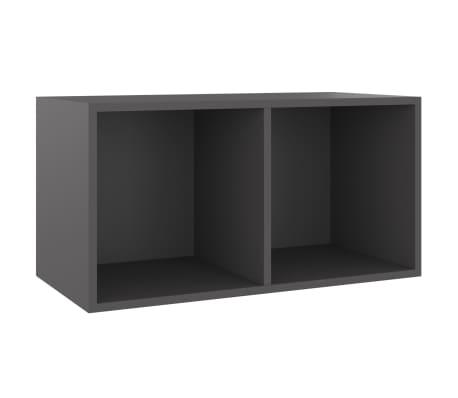 vidaXL Úložný box na LP desky šedý 71 x 34 x 36 cm dřevotříska