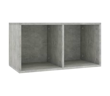 "vidaXL Vinyl Storage Box Concrete Gray 28""x13.4""x14.2"" Chipboard"