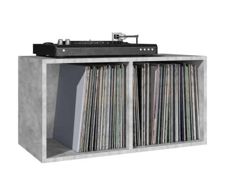"vidaXL Vinyl Storage Box Concrete Gray 28""x13.4""x14.2"" Chipboard[5/6]"