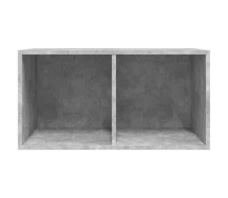 "vidaXL Vinyl Storage Box Concrete Gray 28""x13.4""x14.2"" Chipboard[6/6]"