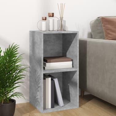 "vidaXL Vinyl Storage Box Concrete Gray 28""x13.4""x14.2"" Chipboard[3/6]"