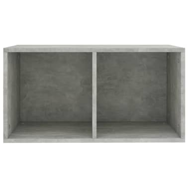 "vidaXL Vinyl Storage Box Concrete Gray 28""x13.4""x14.2"" Chipboard[4/6]"
