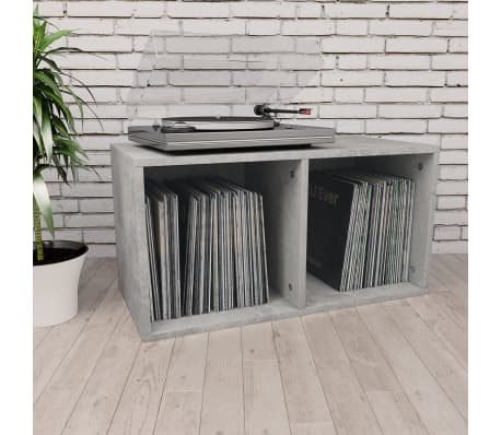 "vidaXL Vinyl Storage Box Concrete Gray 28""x13.4""x14.2"" Chipboard[1/6]"