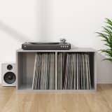vidaXL Úložný box na LP desky šedý vysoký lesk 71x34x36 cm dřevotříska