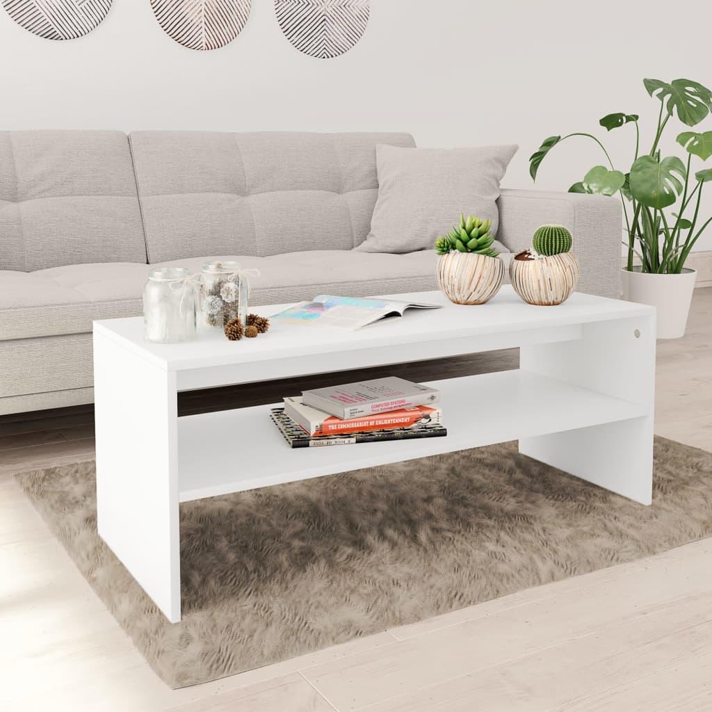 vidaXL Konferenční stolek bílý 100 x 40 x 40 cm dřevotříska