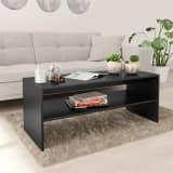 vidaXL Coffee Table Black 100x40x40 cm Chipboard