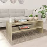 vidaXL Coffee Table Sonoma Oak 100x40x40 cm Chipboard
