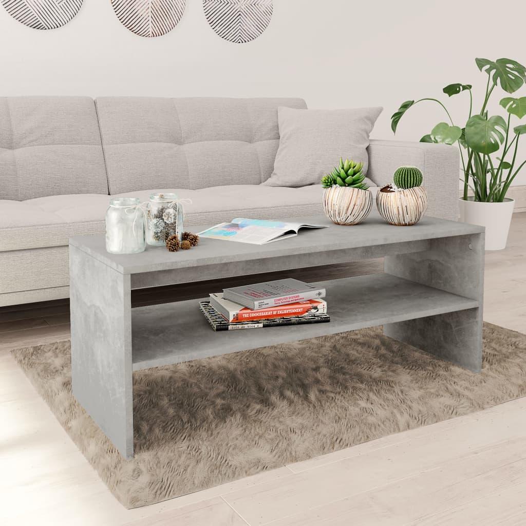 vidaXL Konferenční stolek betonově šedý 100 x 40 x 40 cm dřevotříska