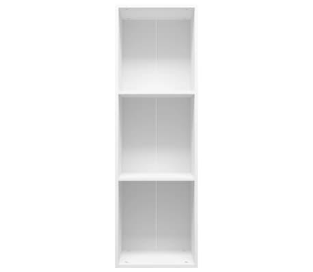 "vidaXL Book Cabinet/TV Cabinet White 14.2""x11.8""x44.9"" Chipboard[4/12]"
