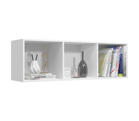 "vidaXL Book Cabinet/TV Cabinet White 14.2""x11.8""x44.9"" Chipboard[5/12]"
