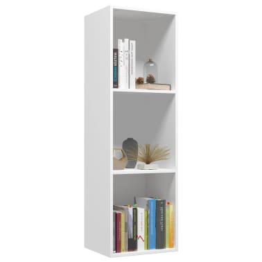 "vidaXL Book Cabinet/TV Cabinet White 14.2""x11.8""x44.9"" Chipboard[3/12]"