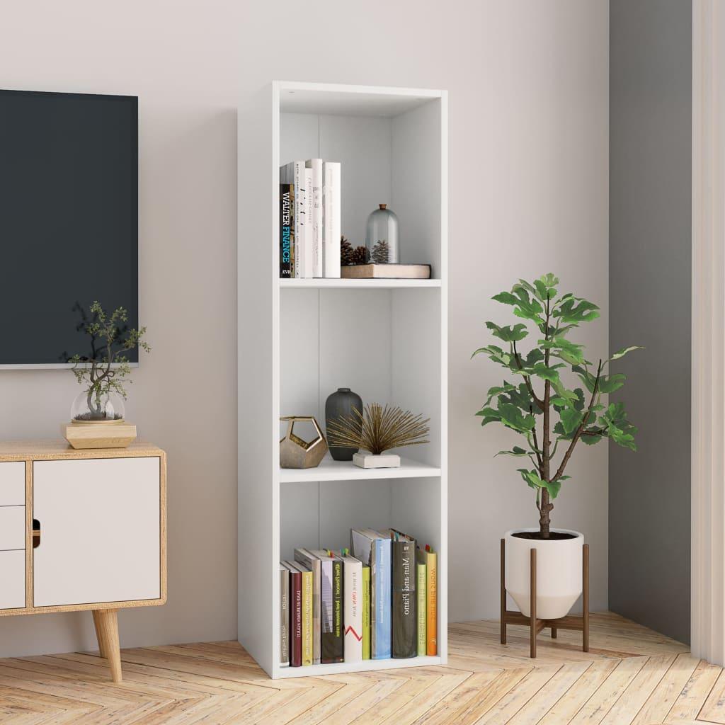 Raamaturiiul/telerialus, valge, 36x30x114 cm, pui..