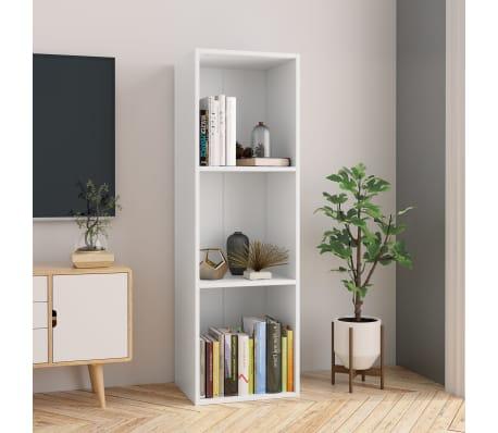 "vidaXL Book Cabinet/TV Cabinet White 14.2""x11.8""x44.9"" Chipboard[1/12]"