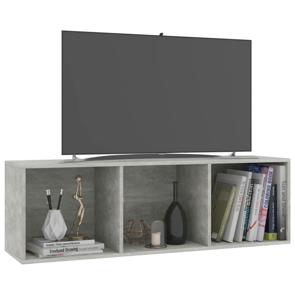 vidaXL Boekenkast/tv-meubel 36x30x114 cm spaanplaat betongrijs