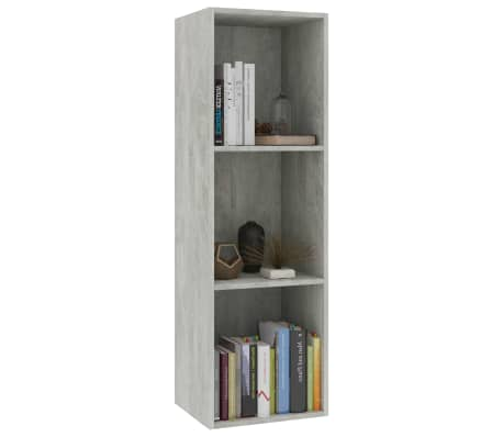 "vidaXL Book Cabinet/TV Cabinet Concrete Gray 14.2""x11.8""x44.9"" Chipboard[3/12]"