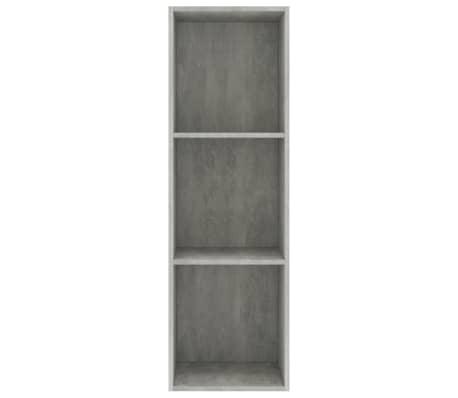 "vidaXL Book Cabinet/TV Cabinet Concrete Gray 14.2""x11.8""x44.9"" Chipboard[4/12]"