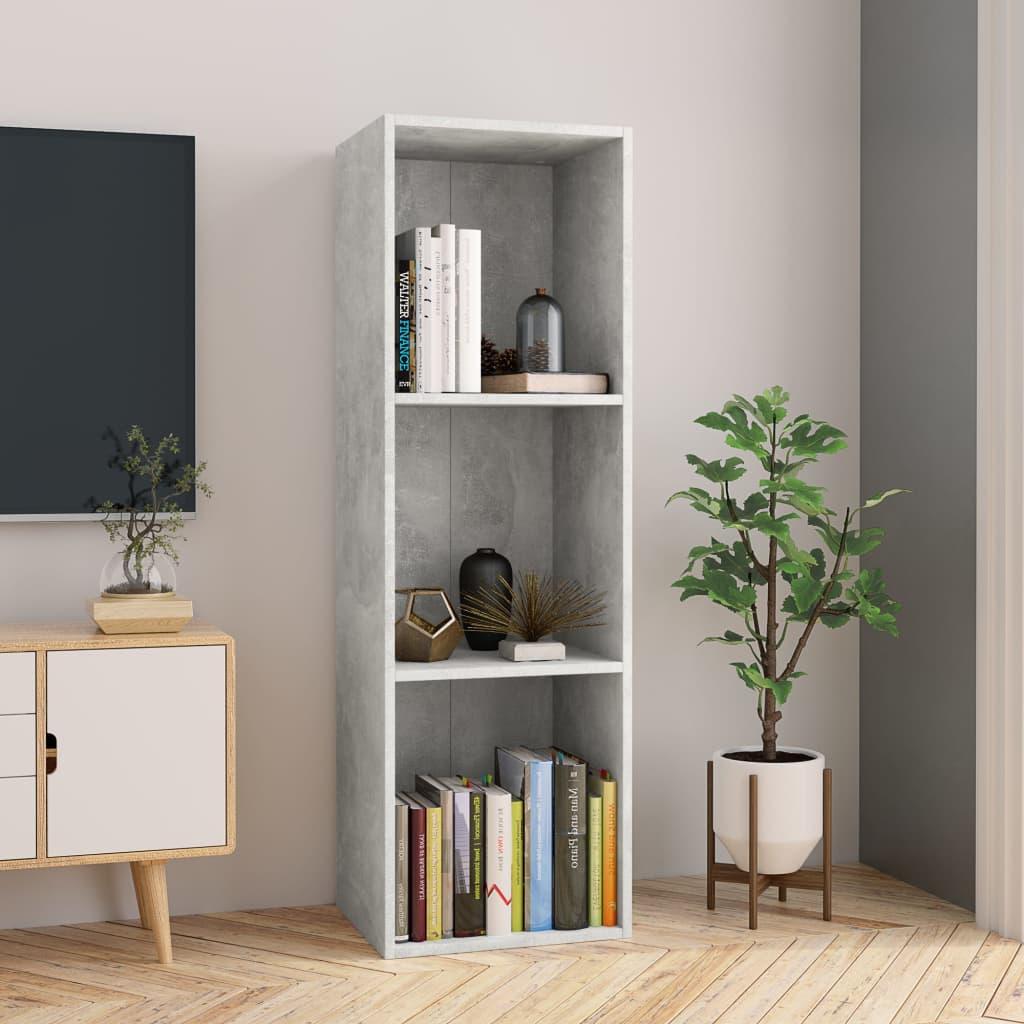vidaXL Regał na książki/szafka TV, betonowy szary, 36x30x114 cm