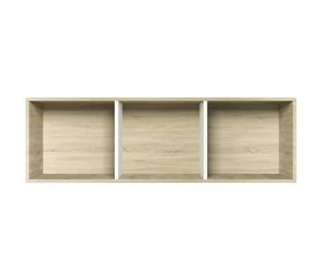 """vidaXL Book Cabinet/TV Cabinet White and Sonoma Oak 14.2""""x11.8""""x44.9""""[9/12]"""