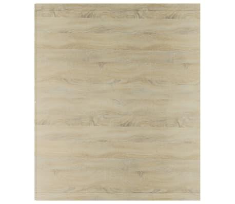 """vidaXL Book Cabinet/TV Cabinet White and Sonoma Oak 14.2""""x11.8""""x44.9""""[10/12]"""