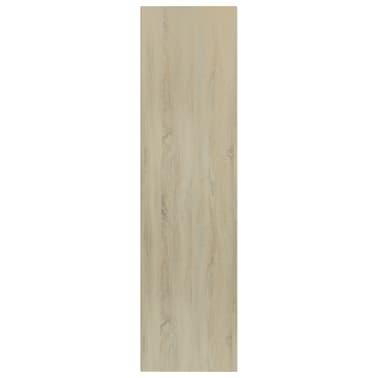 """vidaXL Book Cabinet/TV Cabinet White and Sonoma Oak 14.2""""x11.8""""x44.9""""[5/12]"""