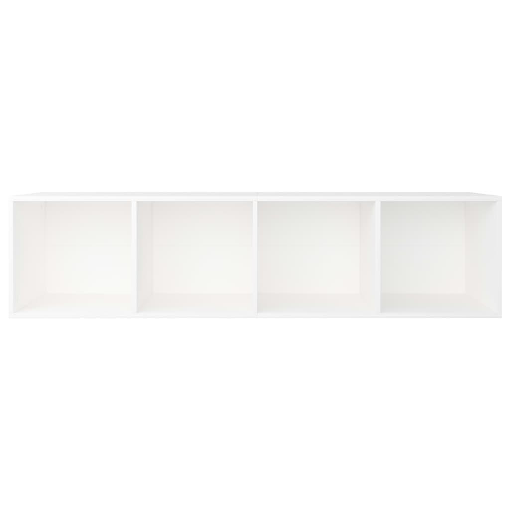 vidaXL Boekenkast/tv-meubel 36x30x143 cm spaanplaat wit