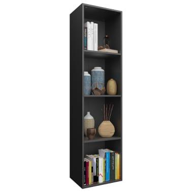 "vidaXL Book Cabinet/TV Cabinet Black 14.2""x11.8""x56.3"" Chipboard[3/12]"