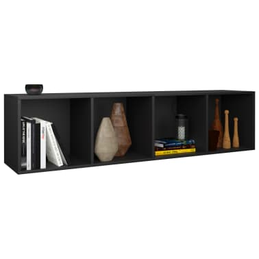"vidaXL Book Cabinet/TV Cabinet Black 14.2""x11.8""x56.3"" Chipboard[5/12]"
