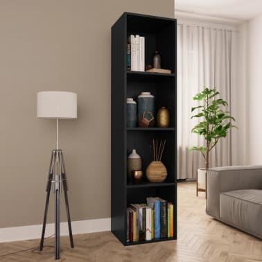 "vidaXL Book Cabinet/TV Cabinet Black 14.2""x11.8""x56.3"" Chipboard[1/12]"