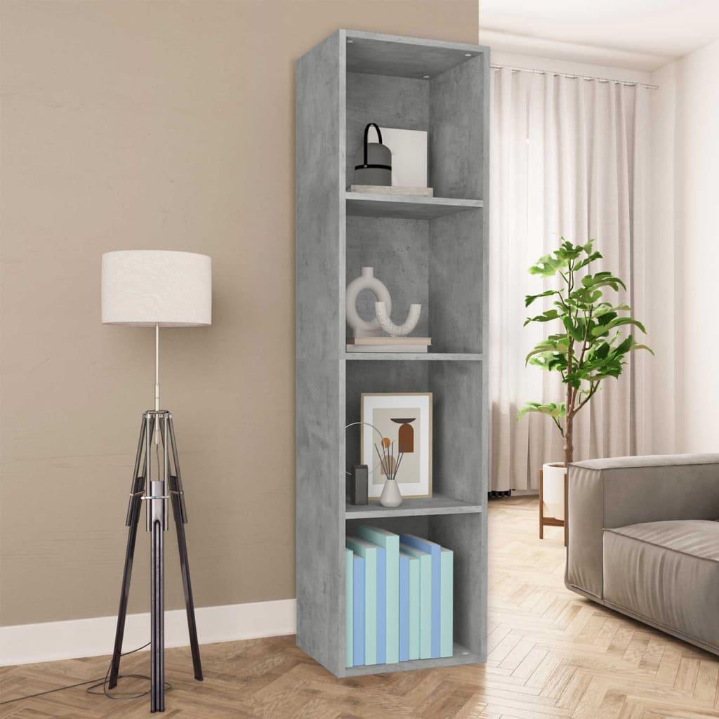 vidaXL Regał na książki/szafka TV, betonowy szary, 36x30x143 cm