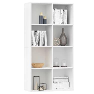 "vidaXL Book Cabinet/Sideboard White 26""x11.8""x51.2"" Chipboard[3/12]"