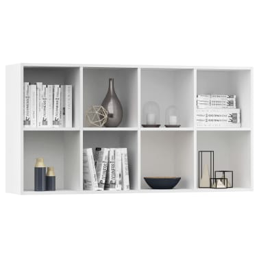 "vidaXL Book Cabinet/Sideboard White 26""x11.8""x51.2"" Chipboard[5/12]"