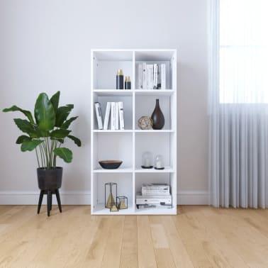 "vidaXL Book Cabinet/Sideboard White 26""x11.8""x51.2"" Chipboard[1/12]"
