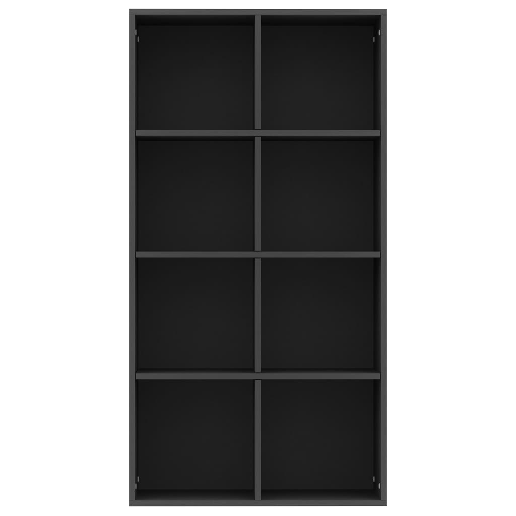 vidaXL Boekenkast/dressoir 66x30x130 cm spaanplaat zwart