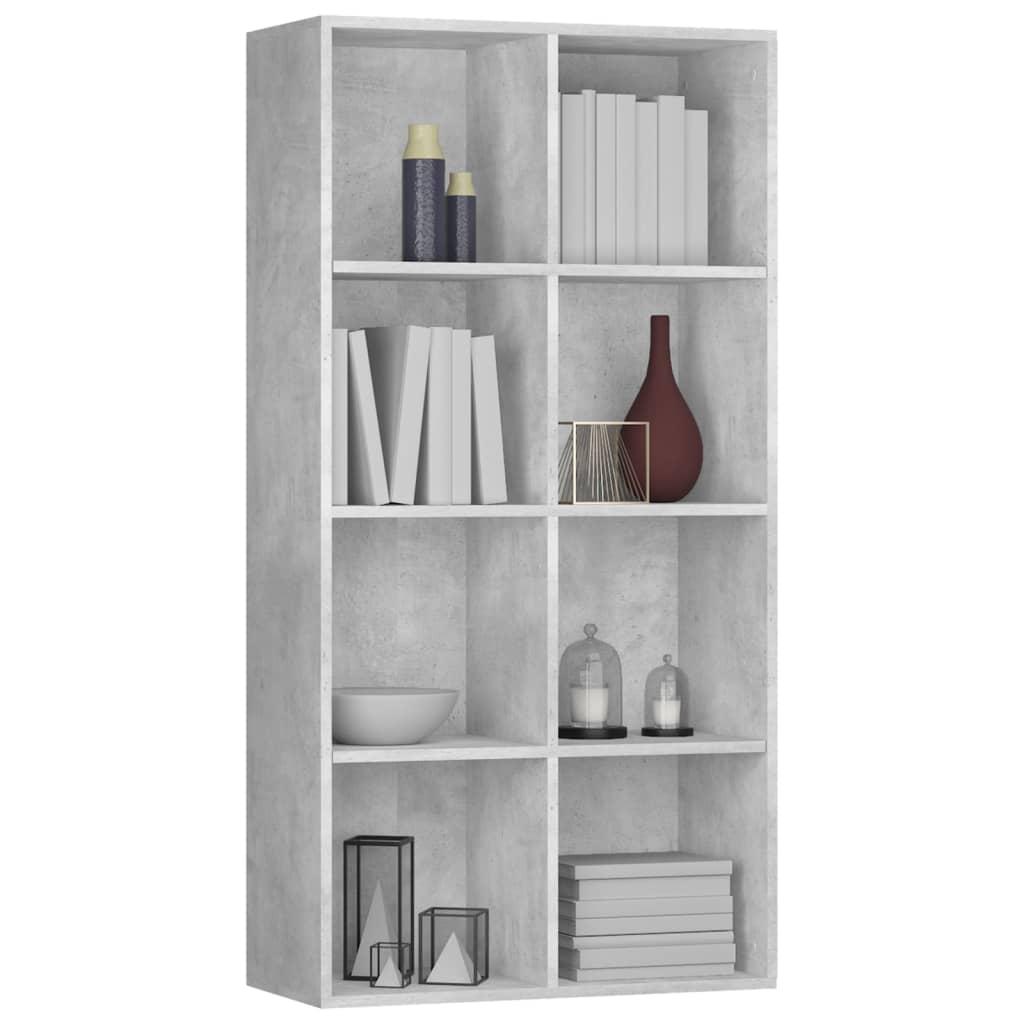 Boekenkast/dressoir 66x30x130 cm spaanplaat betongrijs