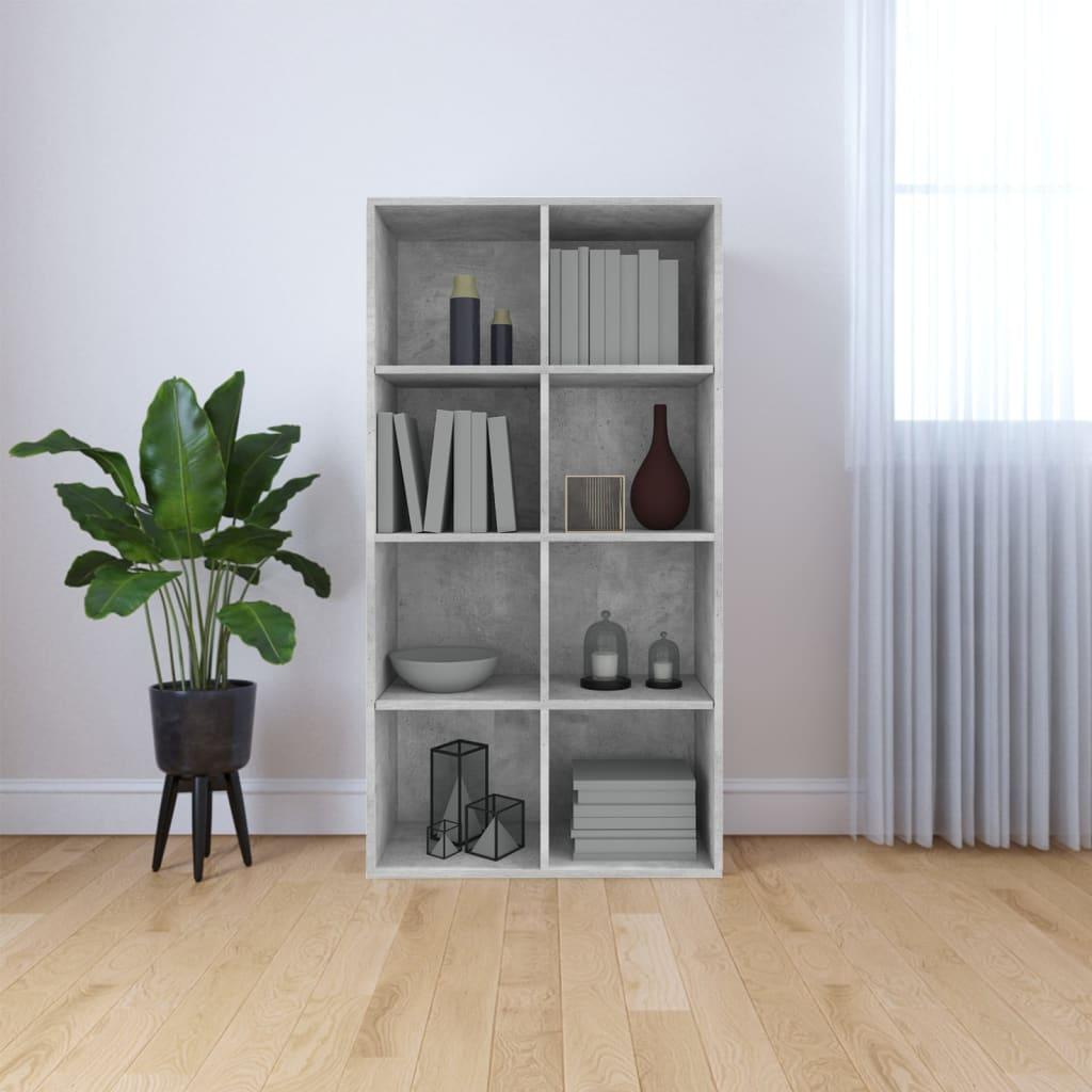 vidaXL Regał na książki/szafka, betonowy szary, 66x30x130 cm