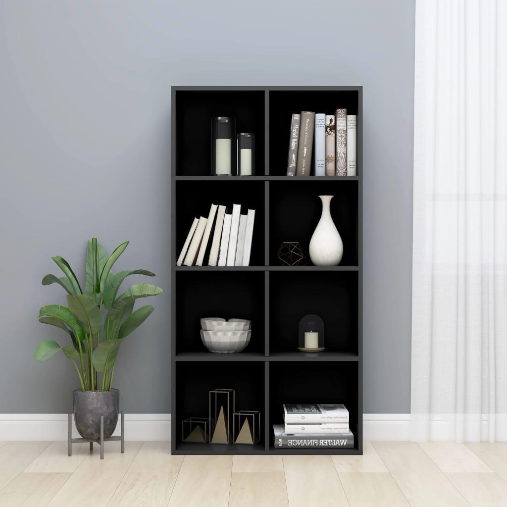 vidaXL Regał na książki/szafka, wysoki połysk, czarny, 66x30x130 cm
