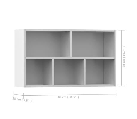 vidaXL bogskab/skænk hvid 45 x 25 x 80 cm spånplade[12/12]