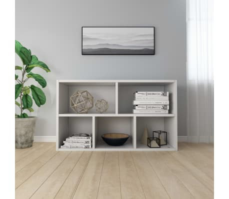 vidaXL bogskab/skænk hvid 45 x 25 x 80 cm spånplade[4/12]