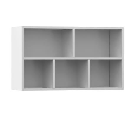 "vidaXL Book Cabinet/Sideboard White 17.7""x9.8""x31.5"" Chipboard[8/12]"
