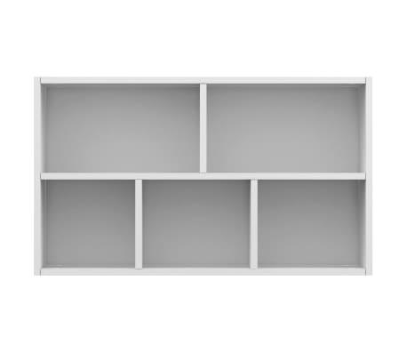 "vidaXL Book Cabinet/Sideboard White 17.7""x9.8""x31.5"" Chipboard[9/12]"