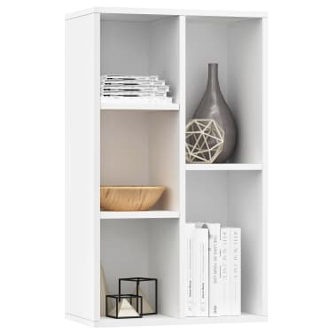 "vidaXL Book Cabinet/Sideboard White 17.7""x9.8""x31.5"" Chipboard[3/12]"