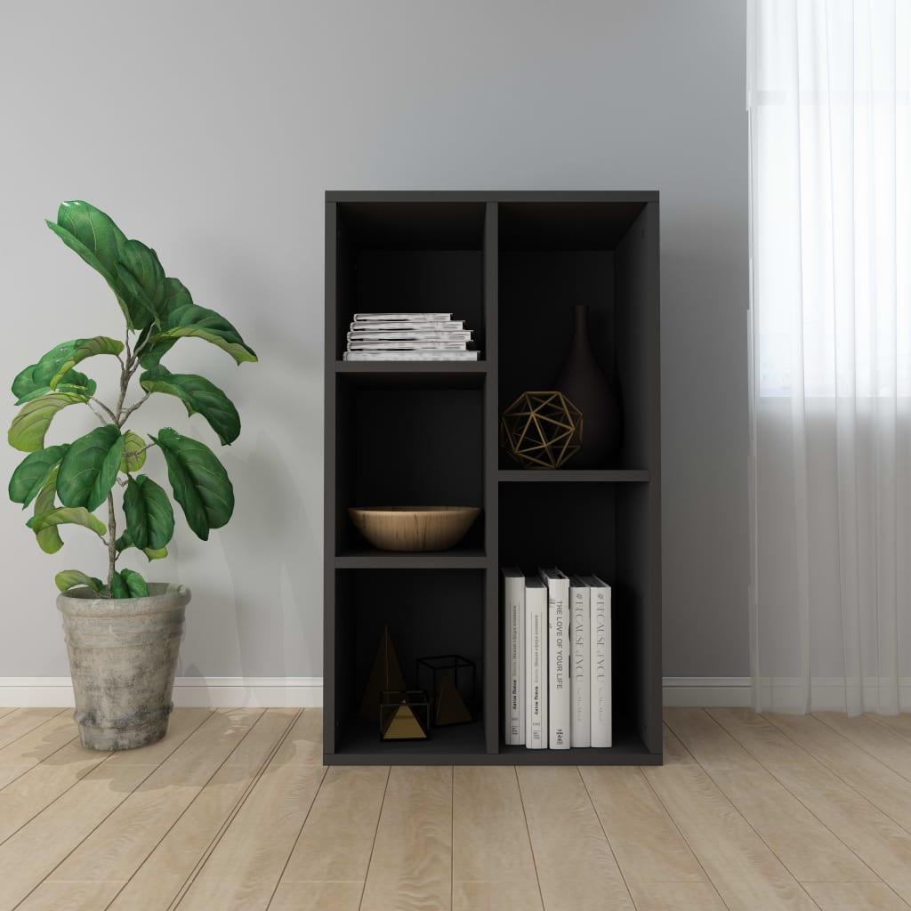 Knihovna/příborník černá 50 x 25 x 80 cm dřevotříska