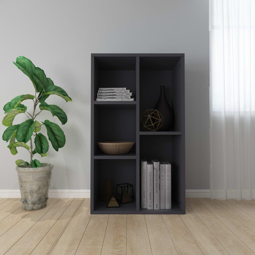 Knihovna/příborník šedá 45 x 25 x 80 cm dřevotříska