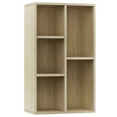 """vidaXL Book Cabinet/Sideboard Sonoma Oak 17.7""""x9.8""""x31.5"""" Chipboard[2/12]"""