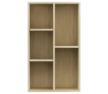 """vidaXL Book Cabinet/Sideboard Sonoma Oak 17.7""""x9.8""""x31.5"""" Chipboard[4/12]"""
