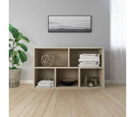 """vidaXL Book Cabinet/Sideboard Sonoma Oak 17.7""""x9.8""""x31.5"""" Chipboard[6/12]"""
