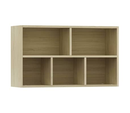 """vidaXL Book Cabinet/Sideboard Sonoma Oak 17.7""""x9.8""""x31.5"""" Chipboard[8/12]"""